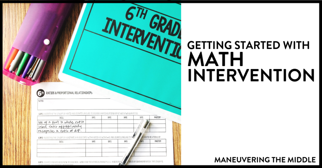 You are given an internvetion class. Now what? Suggestions, ideas, and four steps for getting started with math intervention.