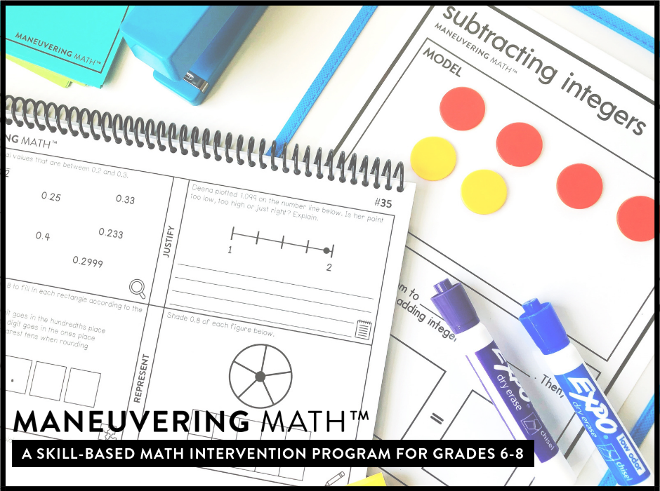 Maneuvering Math - a skill based math intervention program for grades 6-8 | maneuveringmath.com