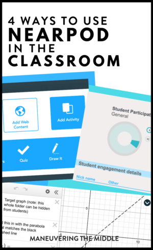 Teachers want to meet all students' needs, but with many students, it can be overwhelming. Nearpod make meeting your students' needs doable!   maneuveringthemiddle.com