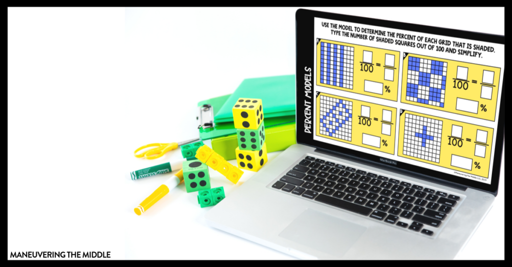 Digital activities are a great way to engage students! Read about our new resource and how to use them in your math classroom. | maneuveringthemiddle.com